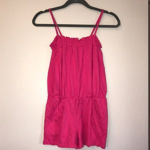 Beautees Dresses - Girls Pink Romper
